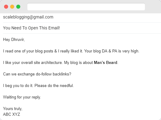 Email that you should never send