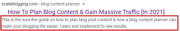 Blog Content Planning Blog Post