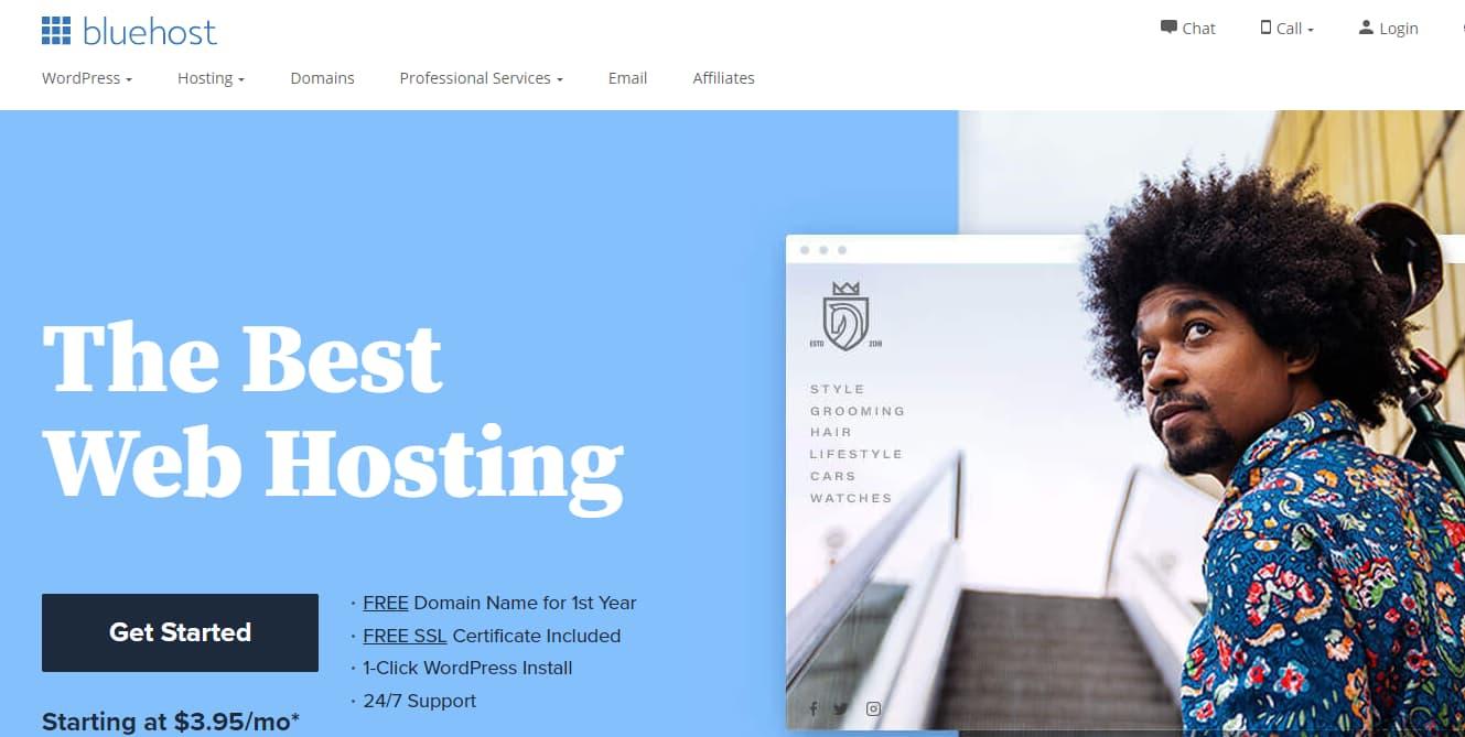 Bluehost.com homepage