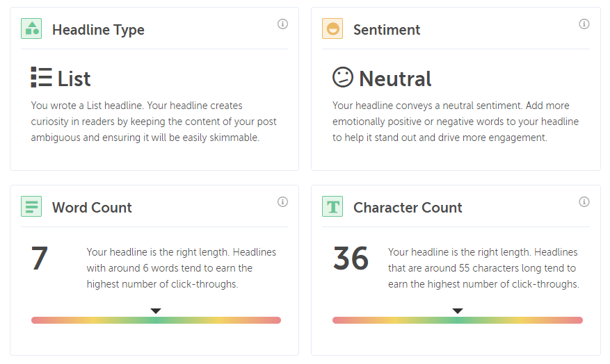 Coschedule Headline Analyzer Tips