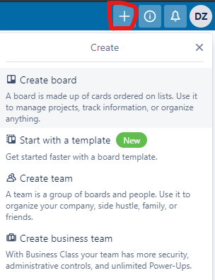 Creating a board in Trello