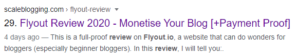 Flyout Review Blog Post