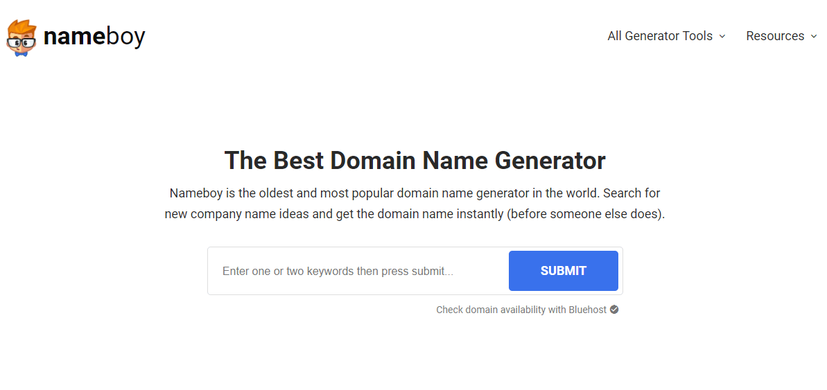 Nameboy Domain Name Generator