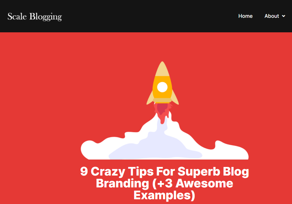Scale Blogging Blog Post on branding your blog