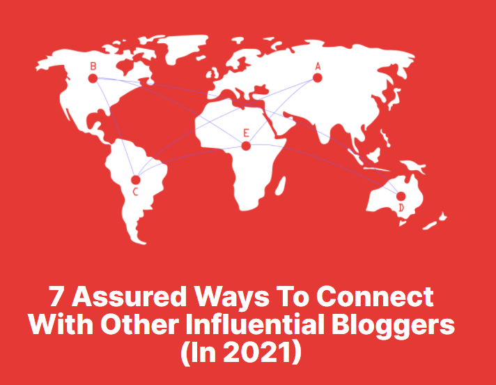 A list post on how to connect with other bloggers