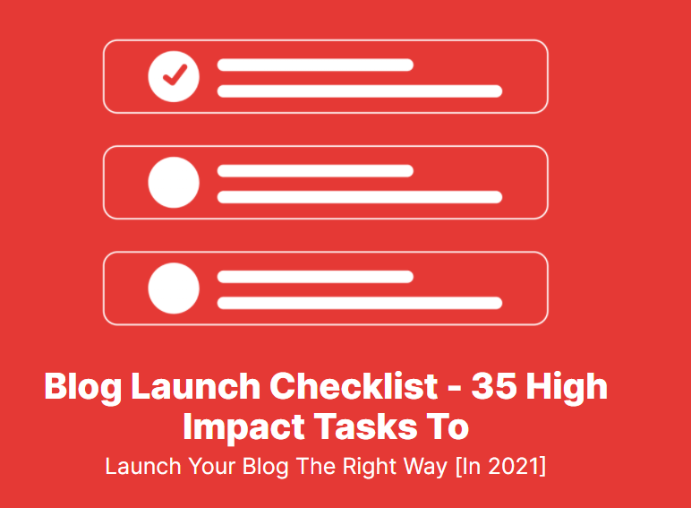 Definitive guide on blog launch checklist