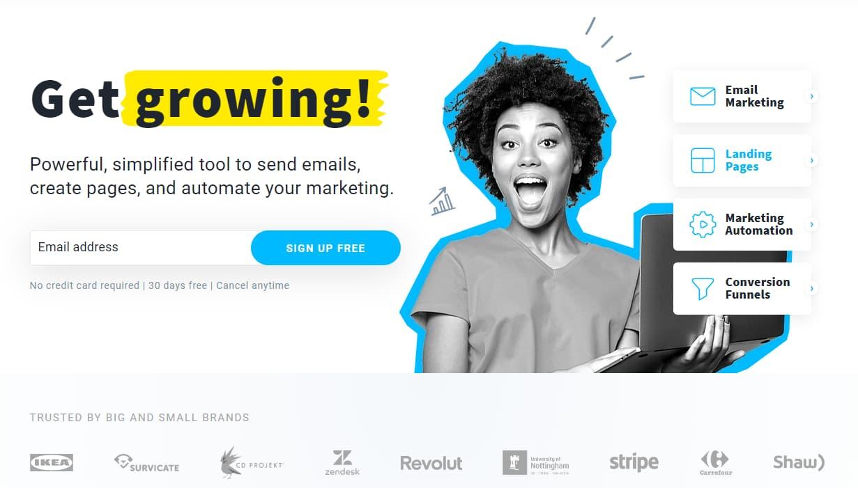 GetResponse freemium email marketing tool
