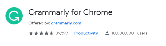 Grammarly's free extension for chrome