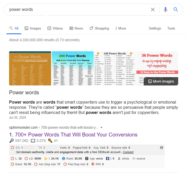 List of power words