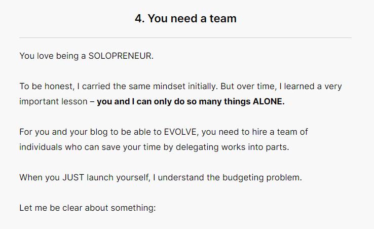 Power of teamwork in blogging