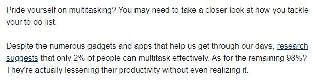 Dark sides of multitasking