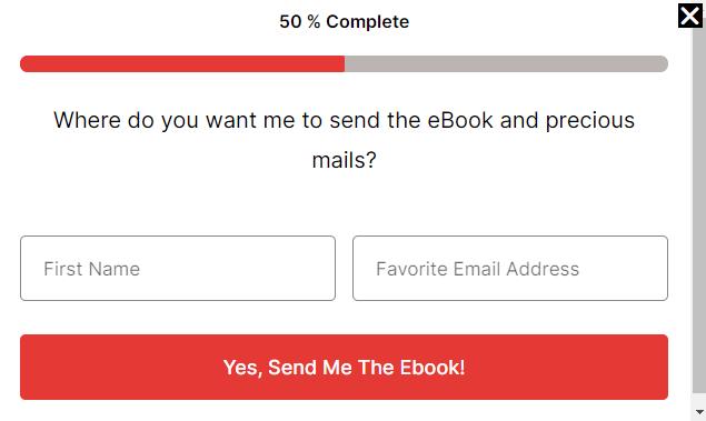 ScaleBlogging email signup popup form