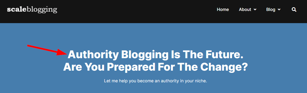 Scale Blogging homepage