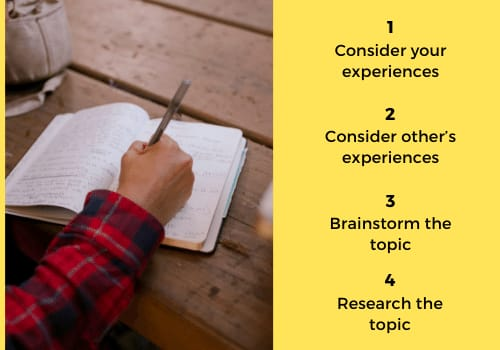 Ways to Generate Ideas for a Writing