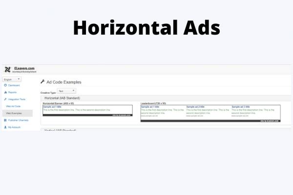 Horizontal Ads