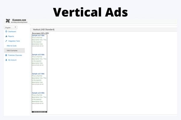 Vertical ads